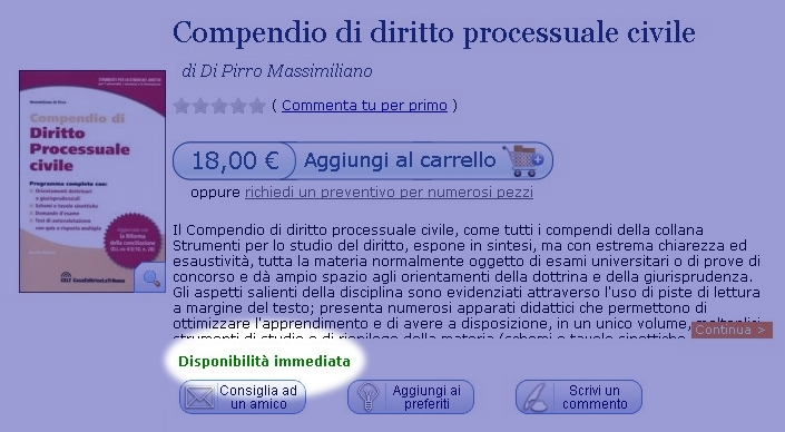 Screenshot del tempo di reperimento